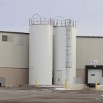 Two Welded Silos
